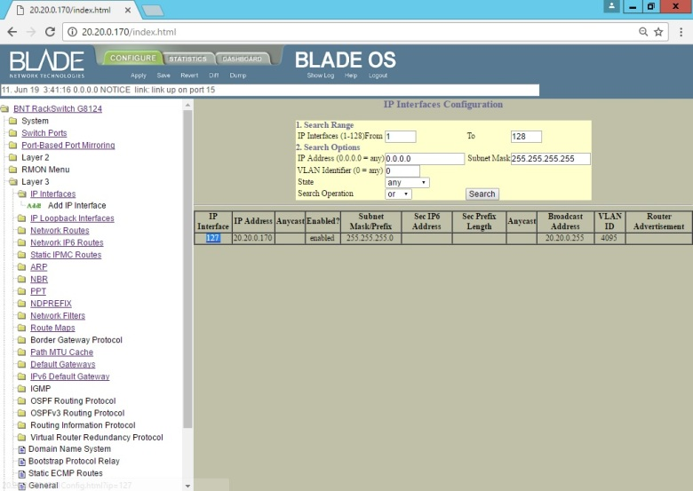 Set BLADE RackSwitch G8124 (Interface UI Change IP Address Mgmt) (3)
